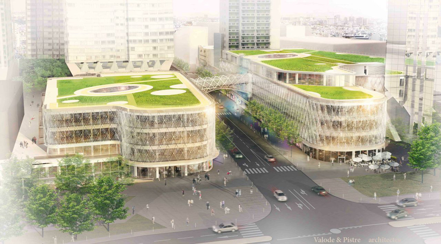 Perspective du futur centre commercial beaugrenelle for Architecture perse